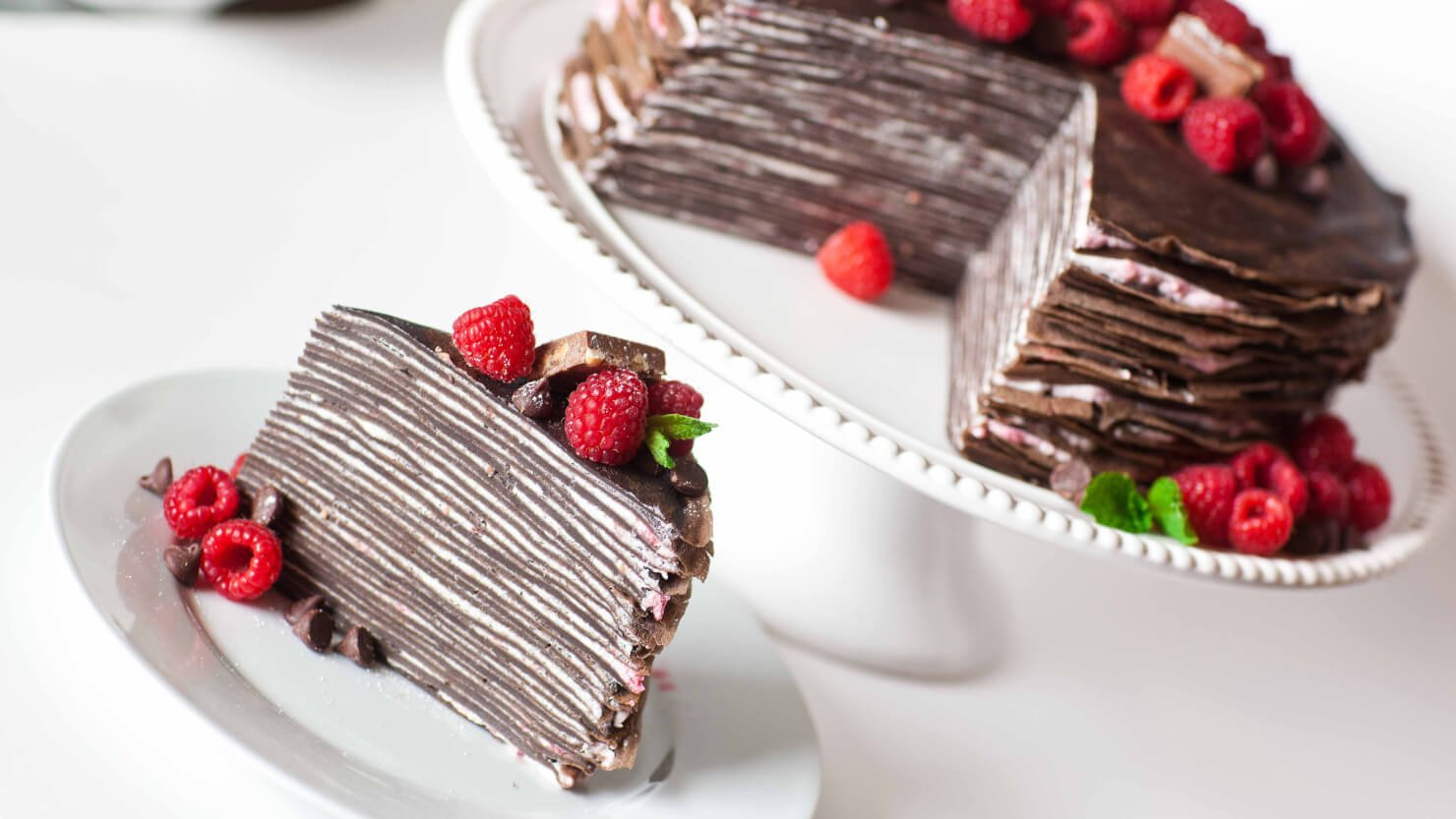 Chocolate Raspberry Crepe Cake - Tatyanas Everyday Food