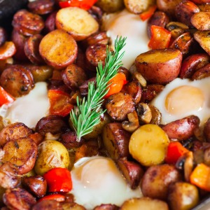 Potato Breakfast Skillet with Sausage and Mushrooms - Video Tutorial