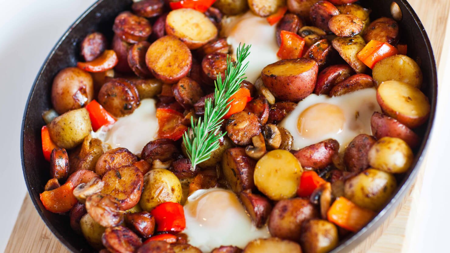 Potato Breakfast Skillet with Sausage and Mushrooms ...