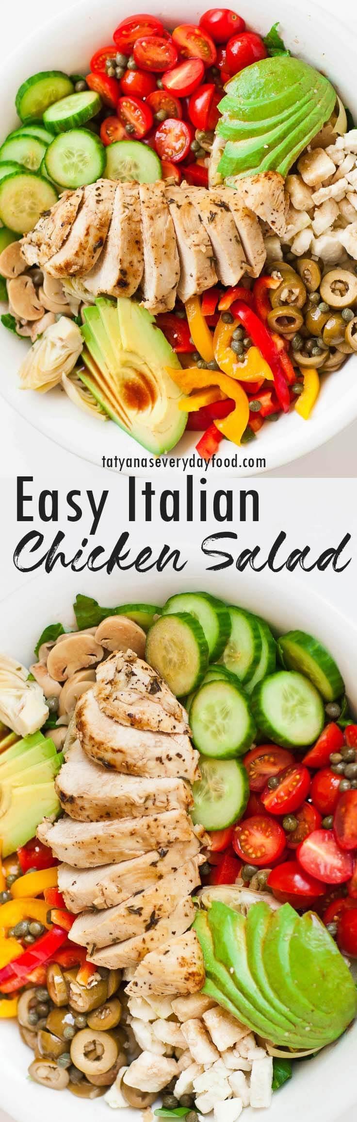 Easy Italian Chicken Salad video recipe