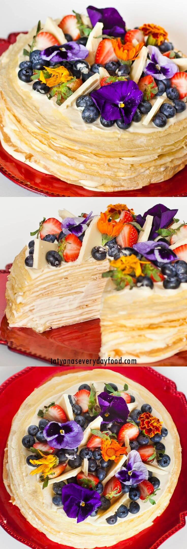 White Chocolate Crepe Cake video recipe