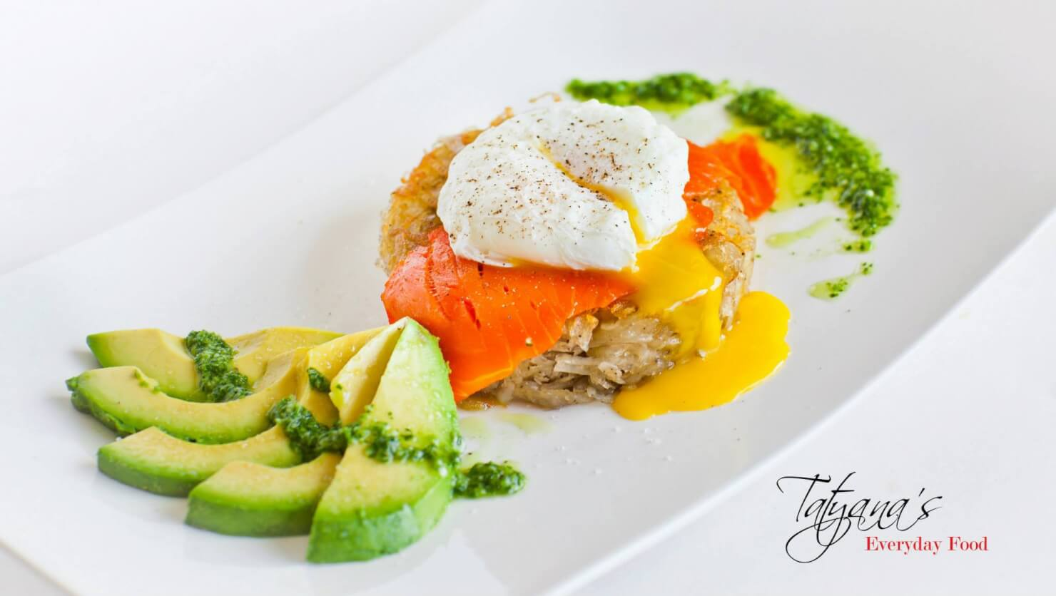 Potato Galette with Poached Egg and Salmon