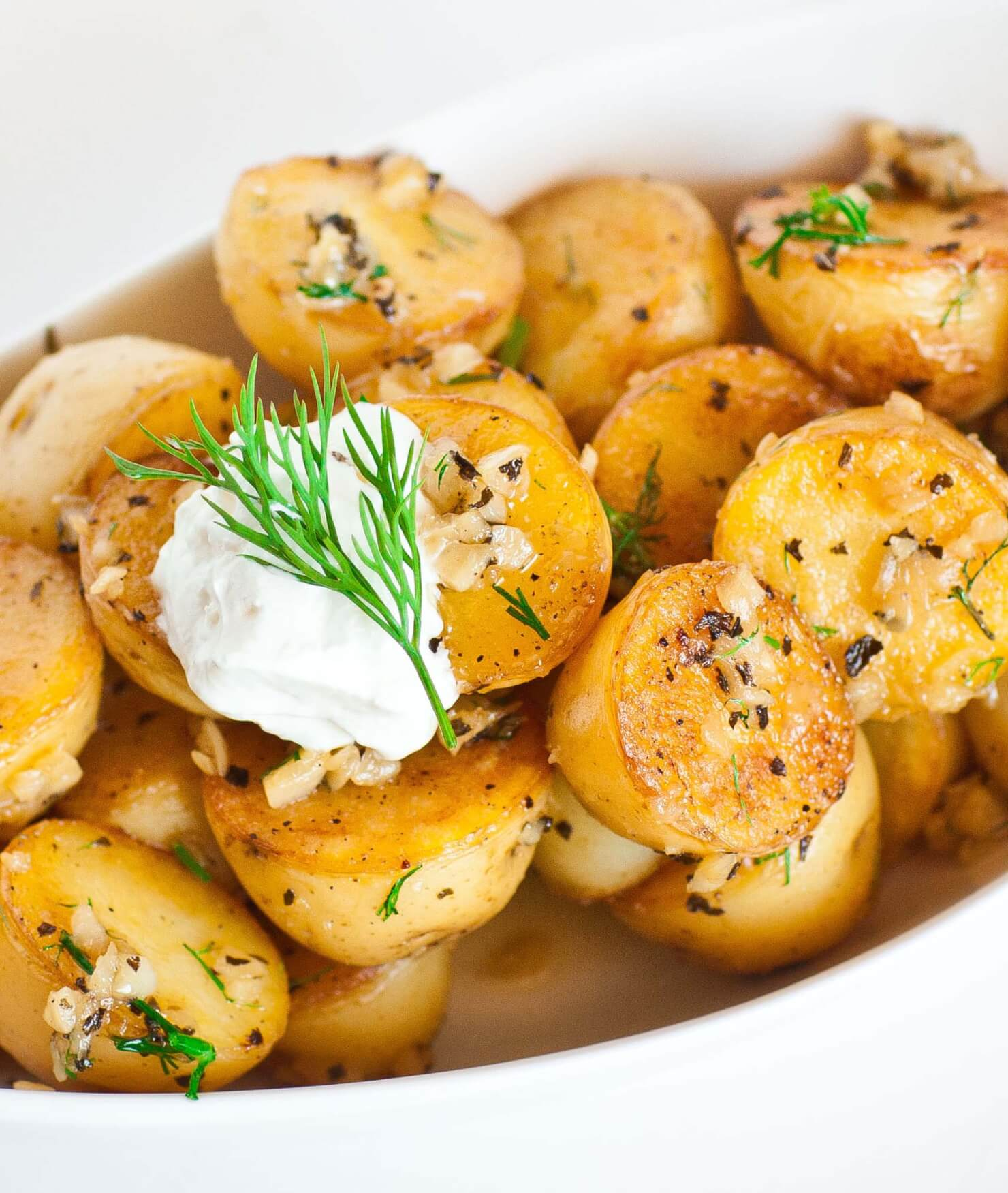 Pan-Seared Garlic Potatoes