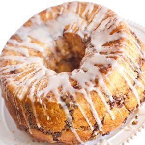 nutella stuffed glazed bread ring