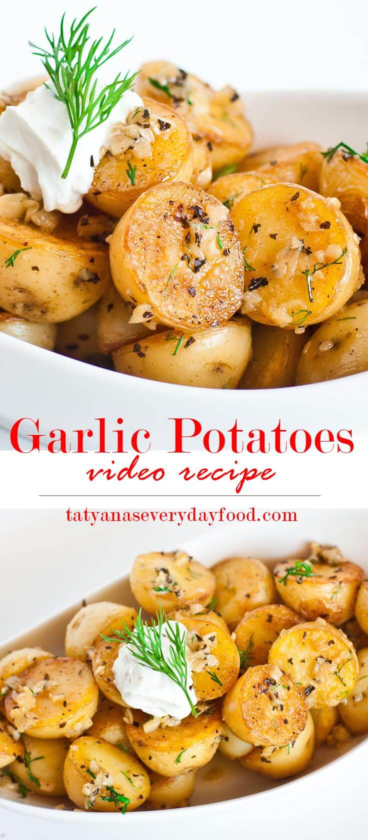 Pan Seared Garlic Baby Potatoes Tatyanas Everyday Food