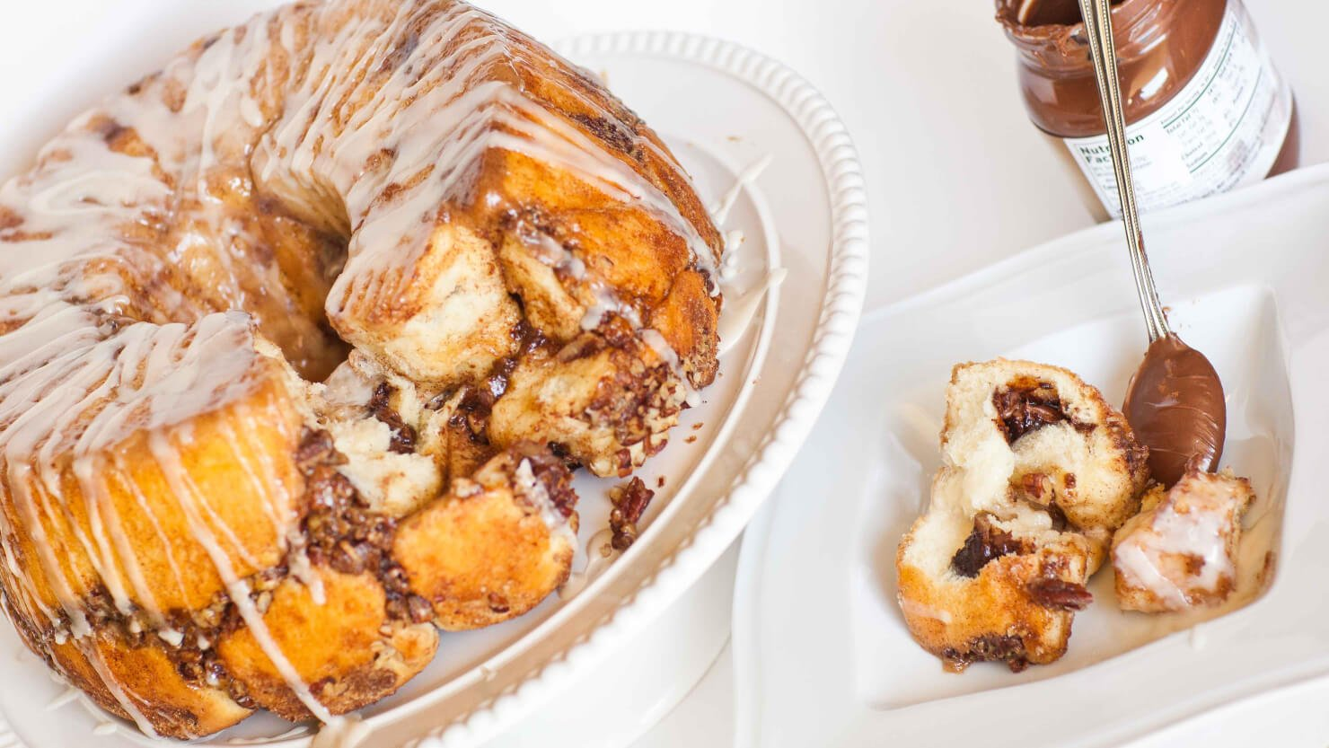 Nutella-Stuffed Pull-Apart Bread with video recipe