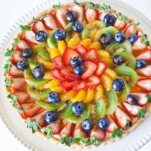 Fruit Tart with Lemon and Cheese Filling