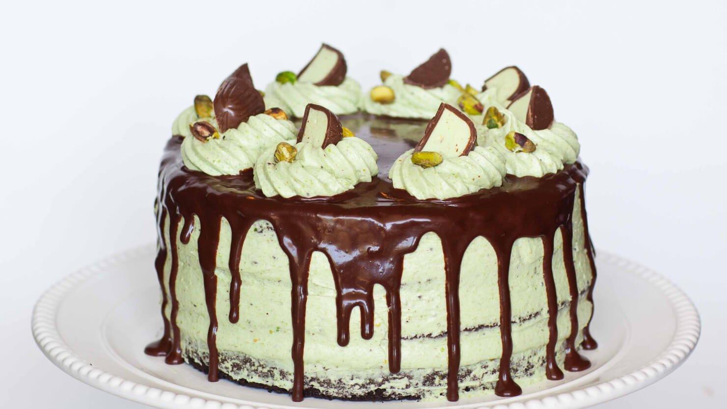 Chocolate Pistachio Cake With Irish Cream - Tatyanas ...