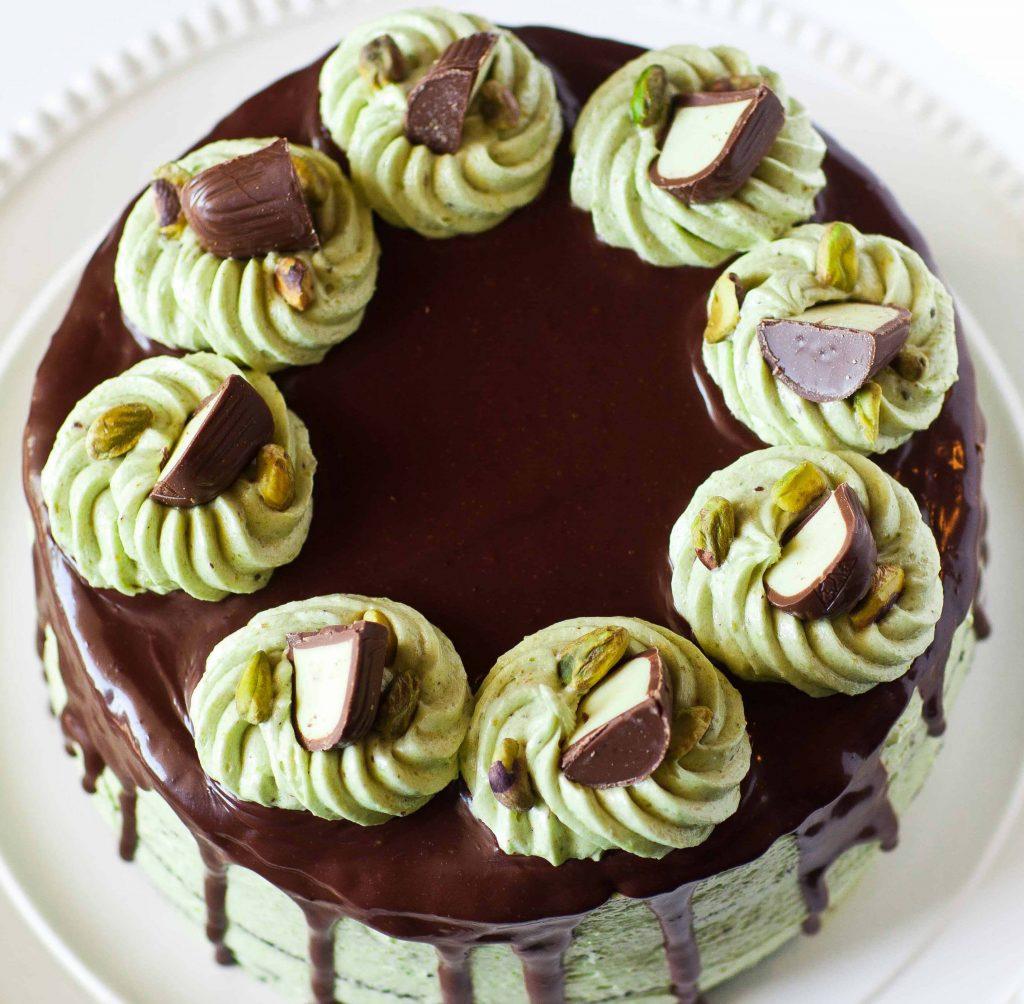 Chocolate & Irish Cream Pistachio Cake - Tatyanas Everyday ...