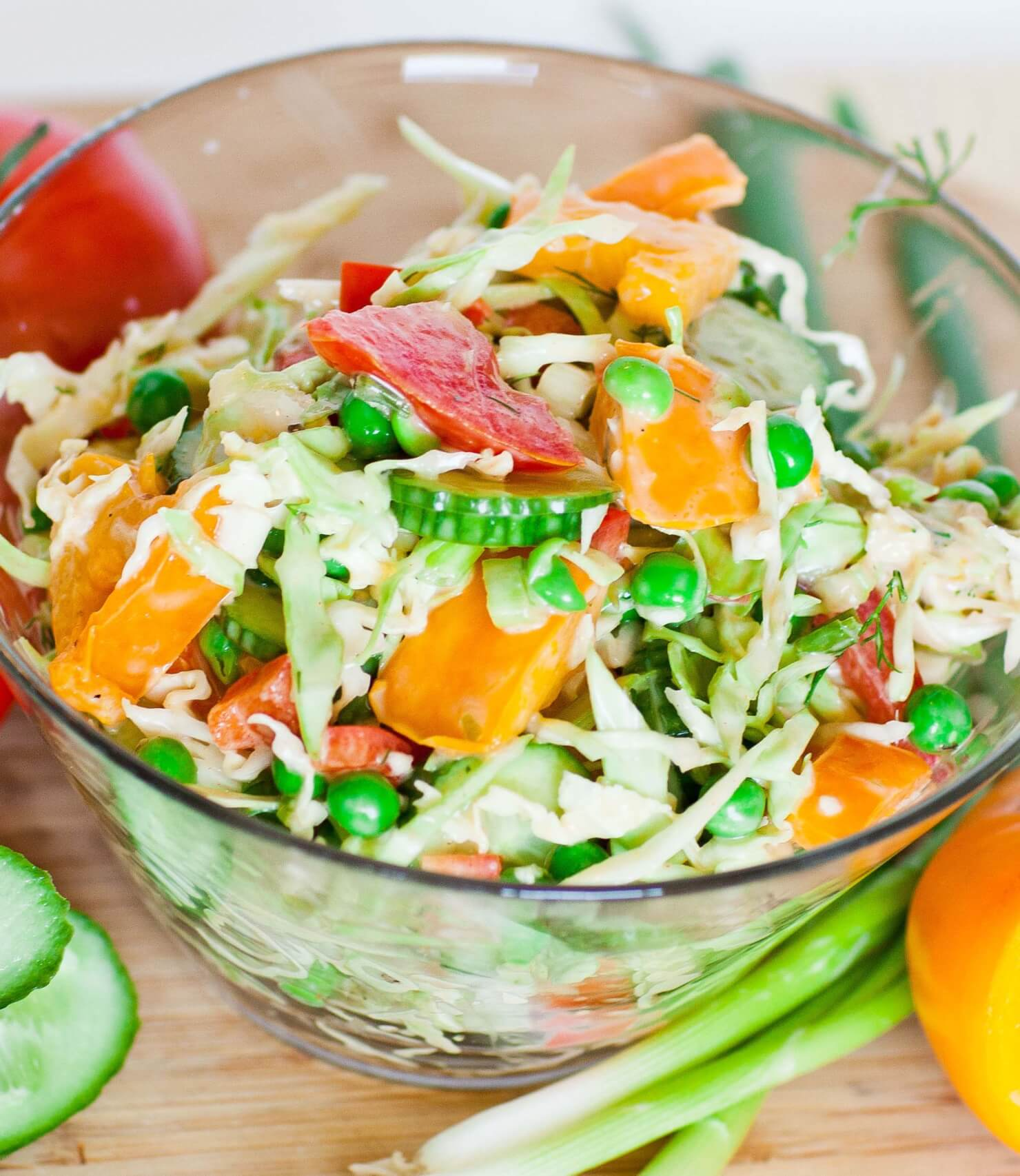 Creamy Summer Coleslaw Salad Tatyanas Everyday Food