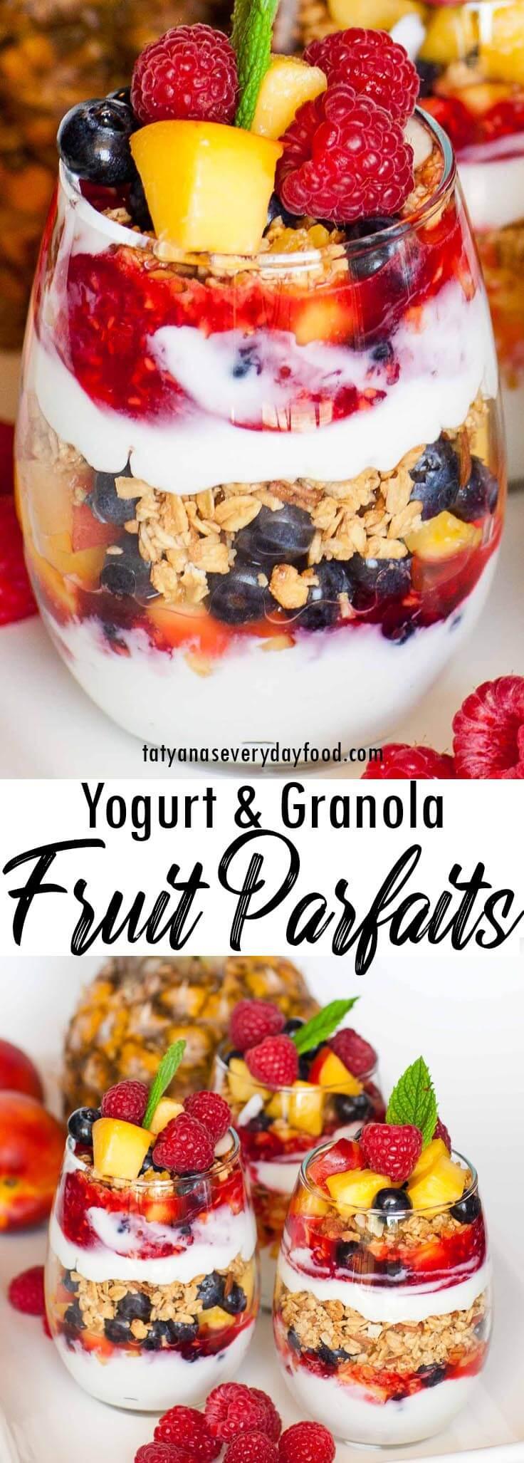 Yogurt & Granola Fruit Parfait video recipe