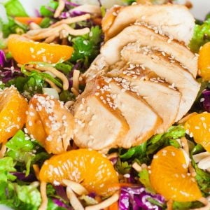 Asian chicken salad with mandarins