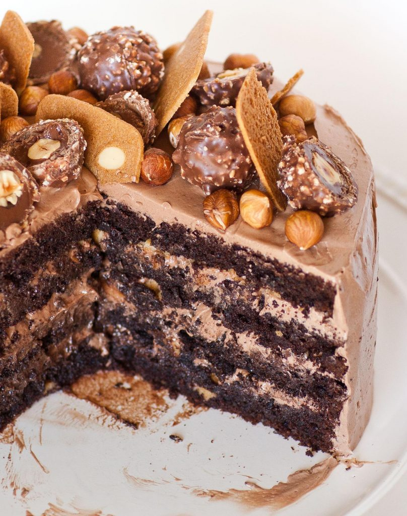 Ferrero Rocher Cake recipe with chocolate buttercream
