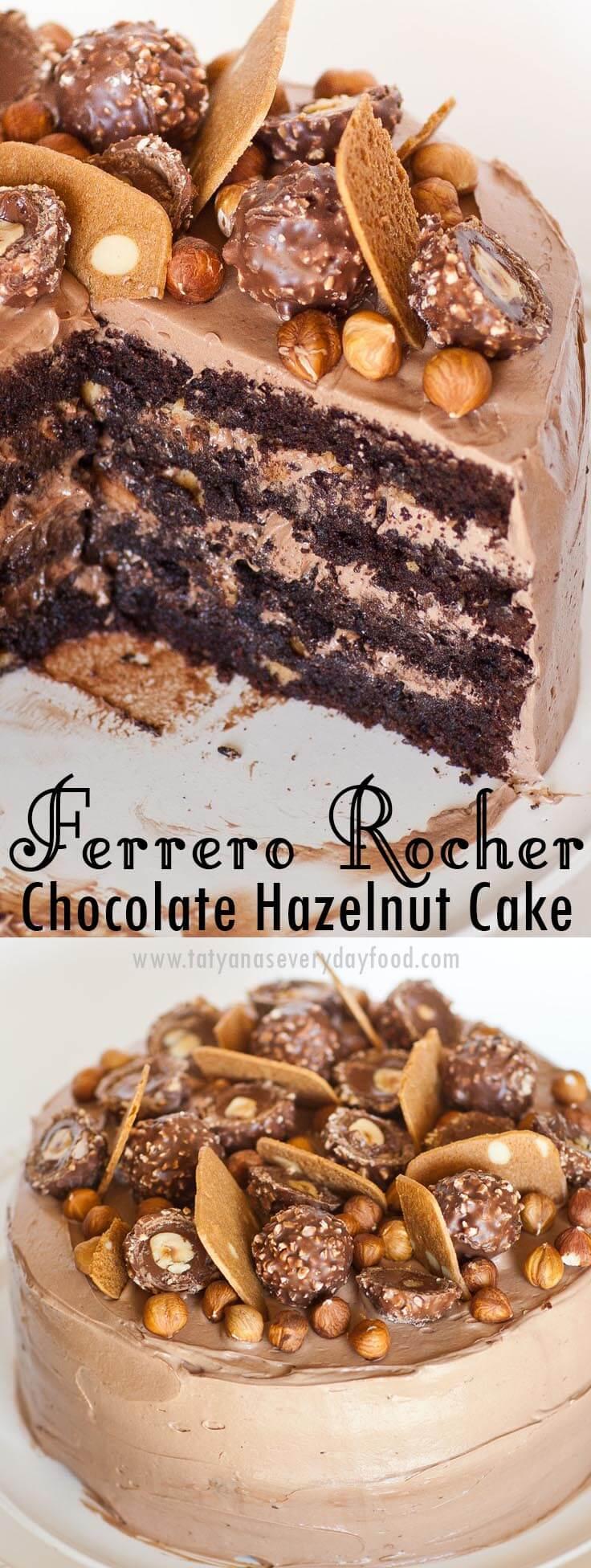 Ferrero Rocher Cake video recipe