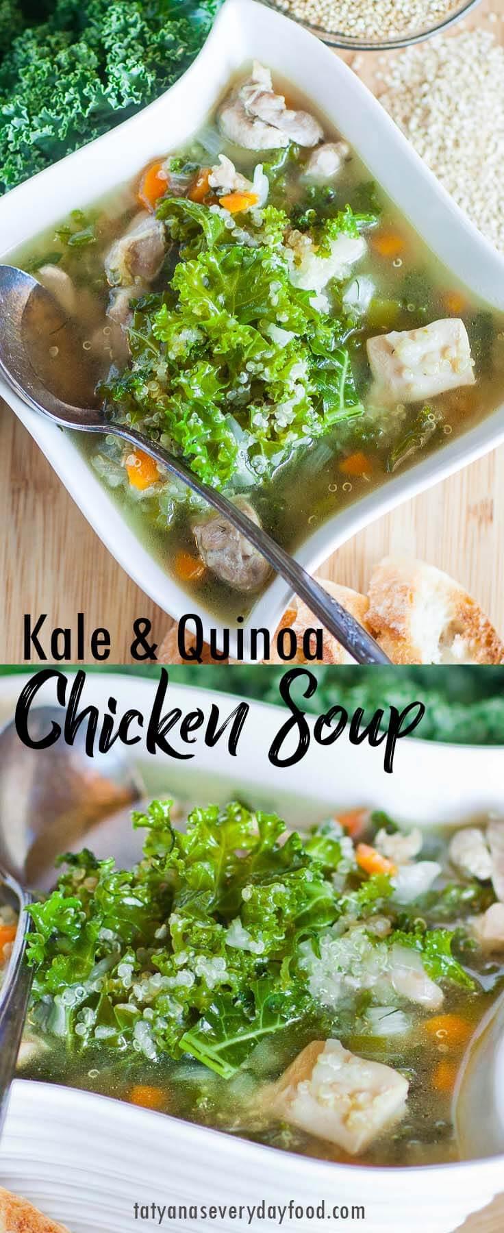 Kale Quinoa Chicken Soup video recipe