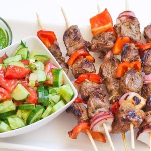 Easy Lamb Kabobs recipe with video