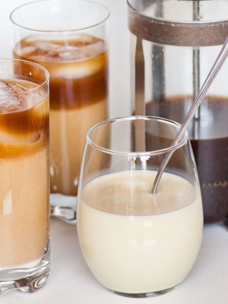 sweetened condensed milk for Thai iced coffee drink