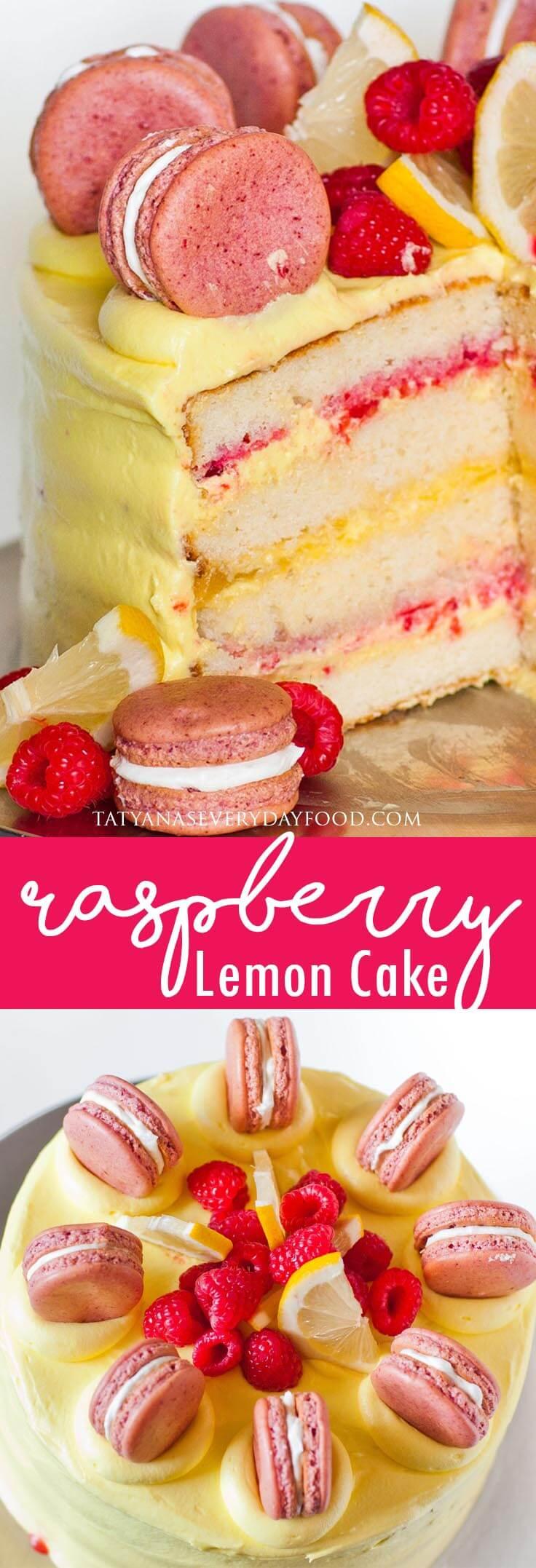 Raspberry Lemon Cake video recipe