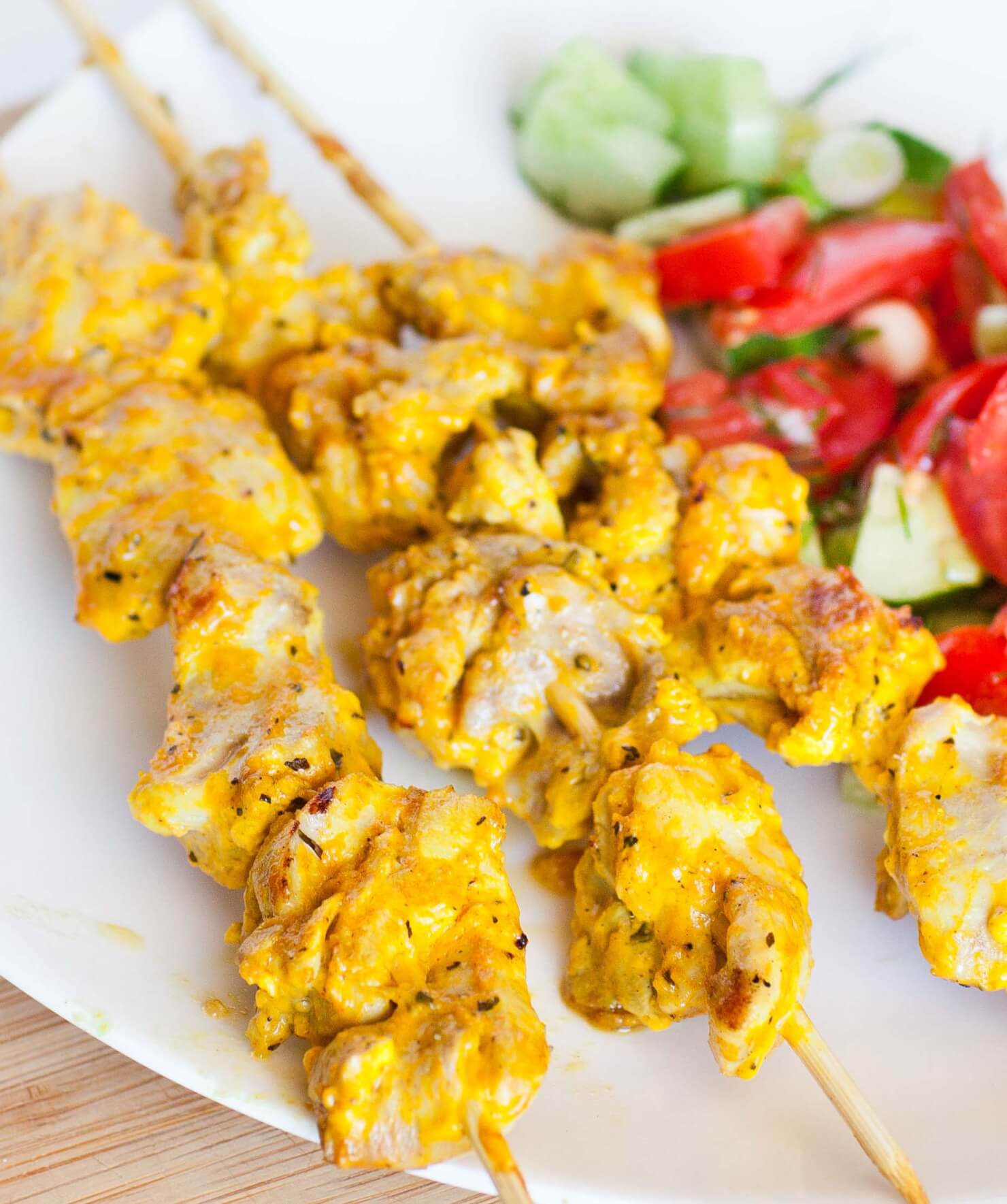 yogurt tumeric chicken kabobs