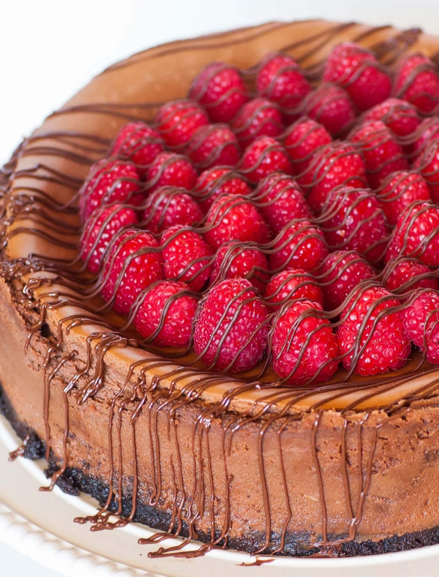 Caramel Raspberry Chocolate Cheesecake - Tatyanas Everyday ...