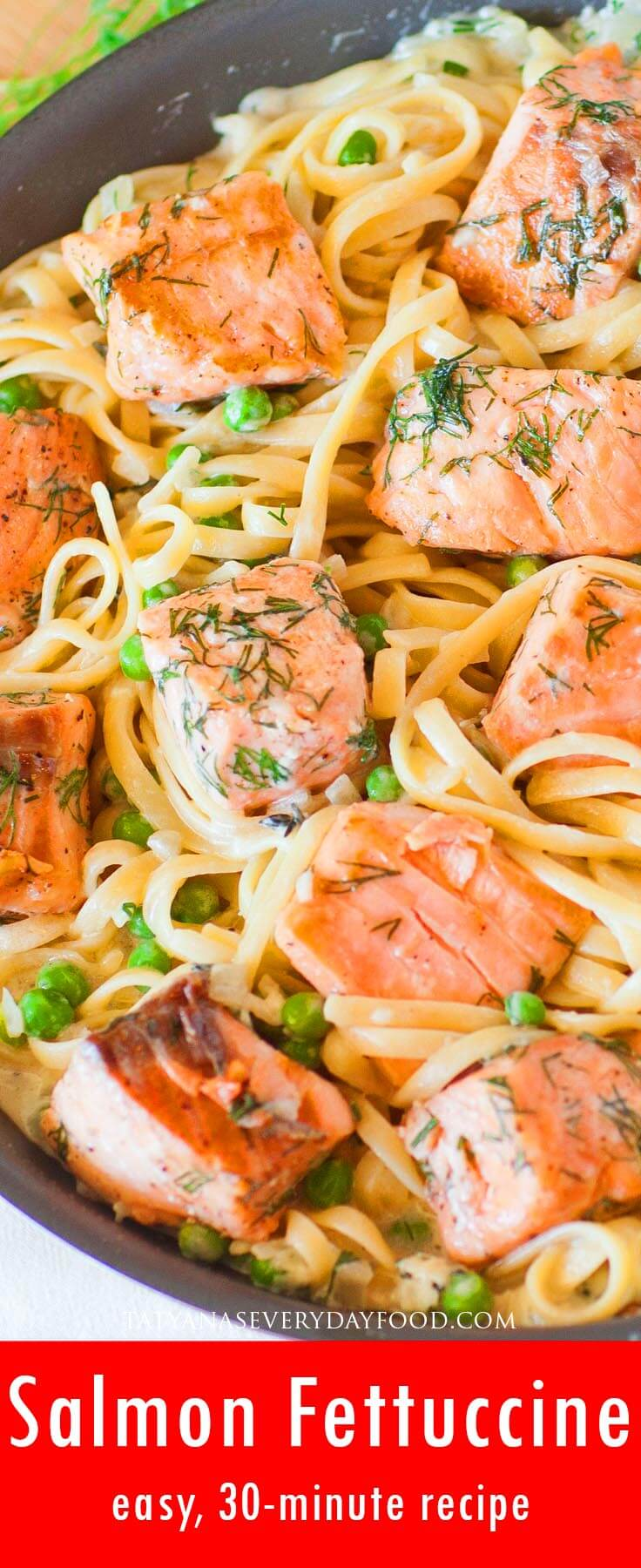 Easy Salmon Fettuccine video recipe