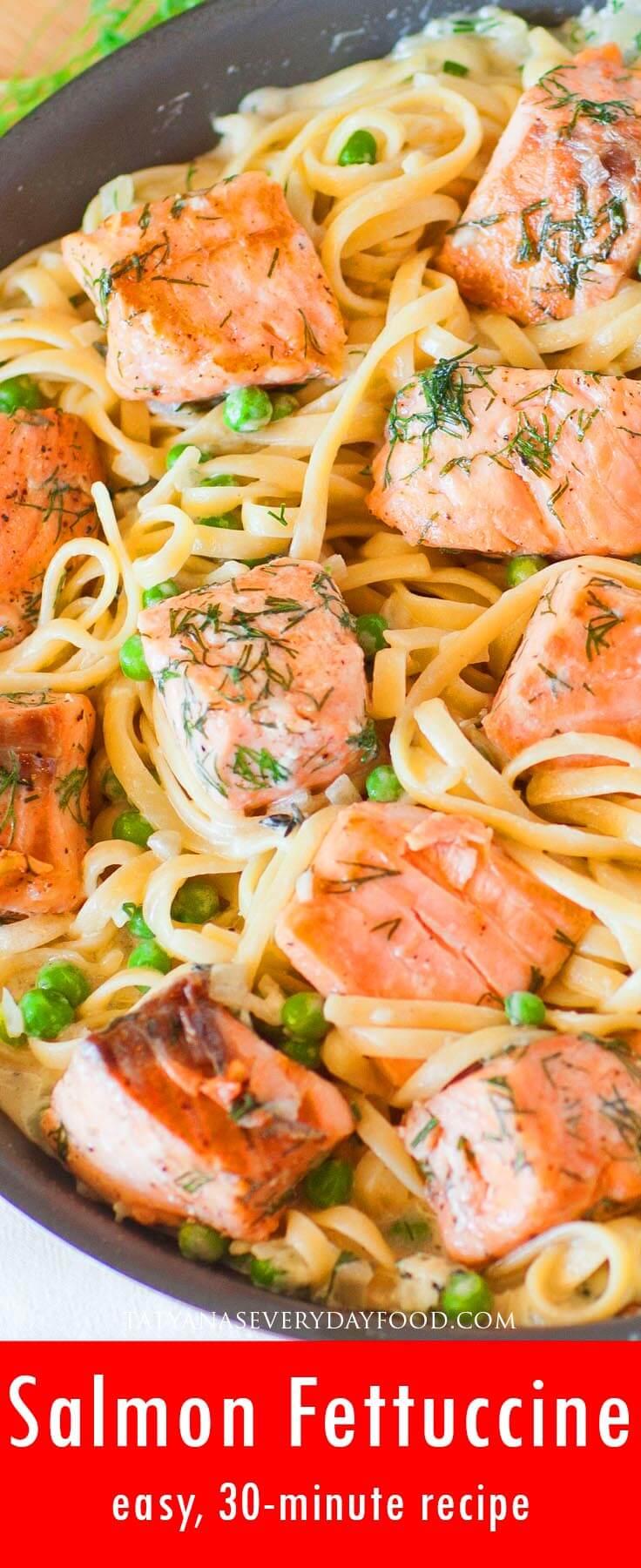 Easy Salmon Fettuccine video recipe