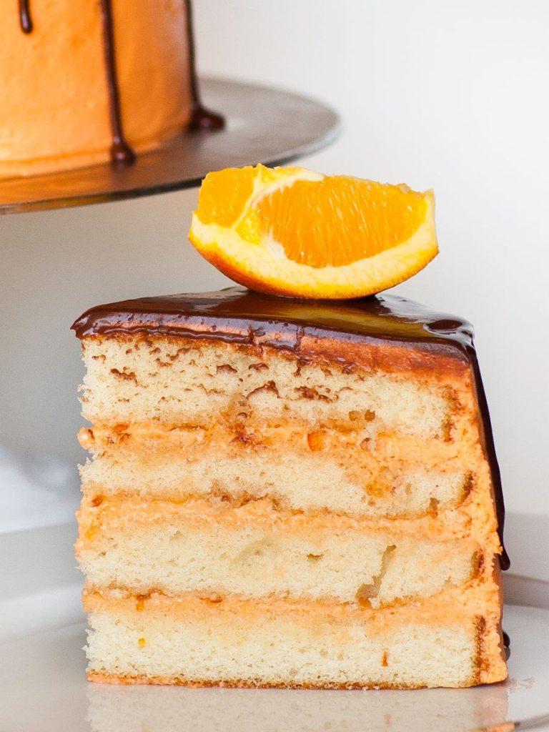 orange marmalade cake with orange vanilla cake layers