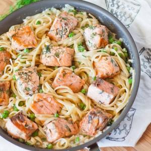 Salmon Fettuccine video recipe