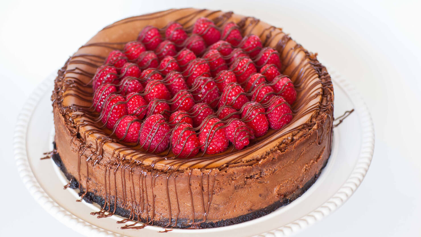 Caramel Raspberry Chocolate Cheesecake - Tatyanas Everyday Food