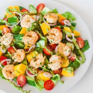 Shrimp Salad with Avocado Dressing