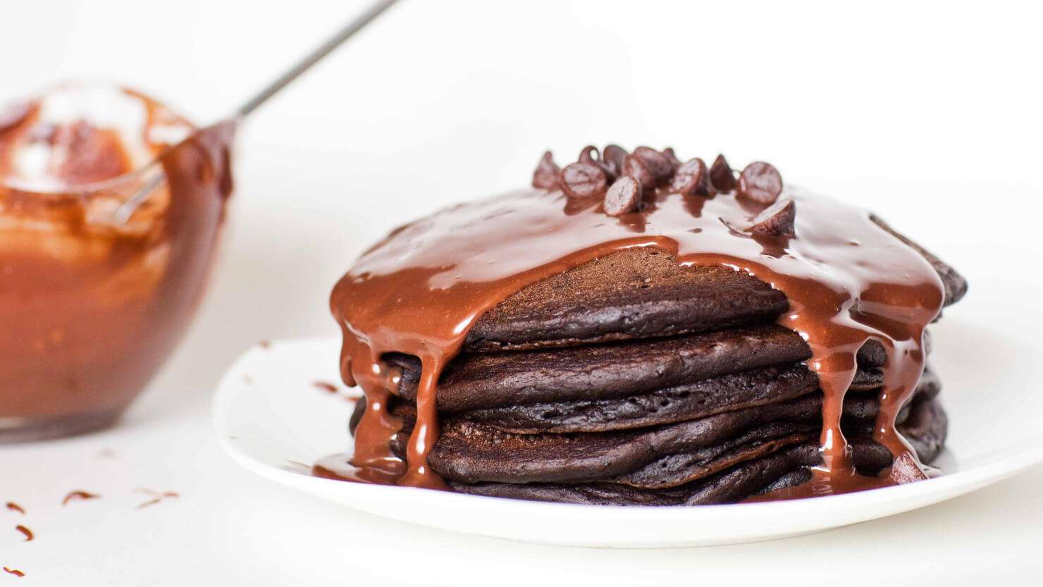 Triple chocolate pancakes tatyanas everyday food