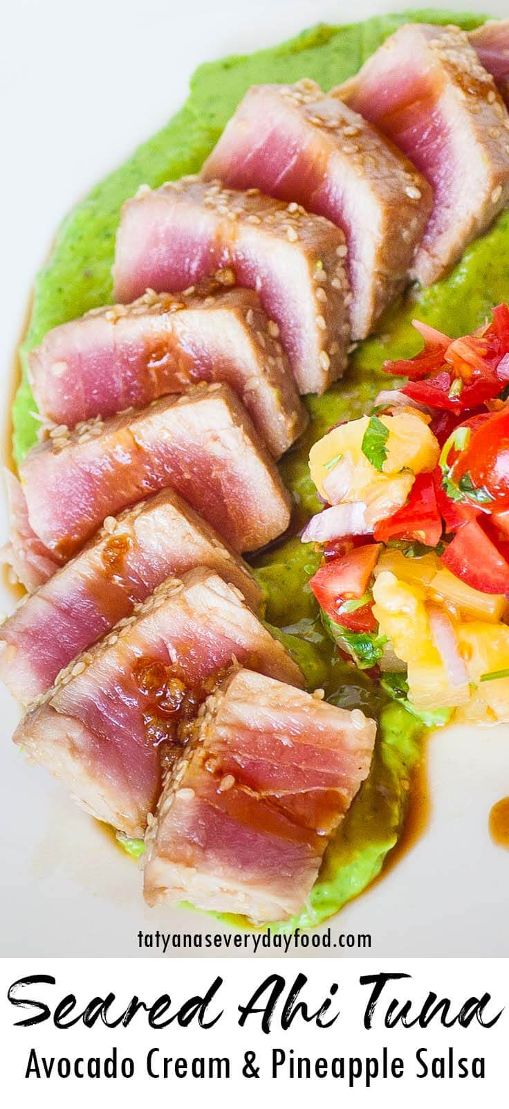 Avocado Pineapple Seared Ahi Tuna video recipe