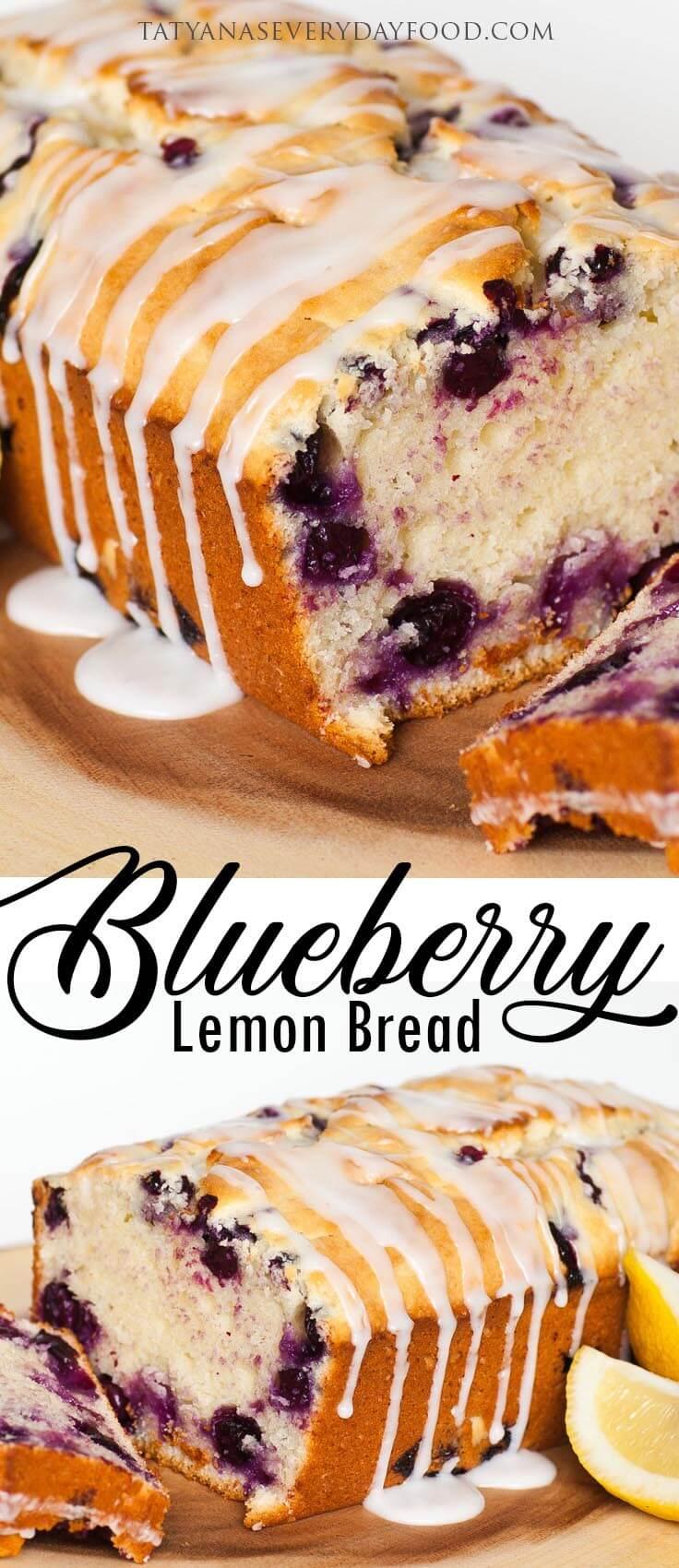 The Best Blueberry Lemon Bread
