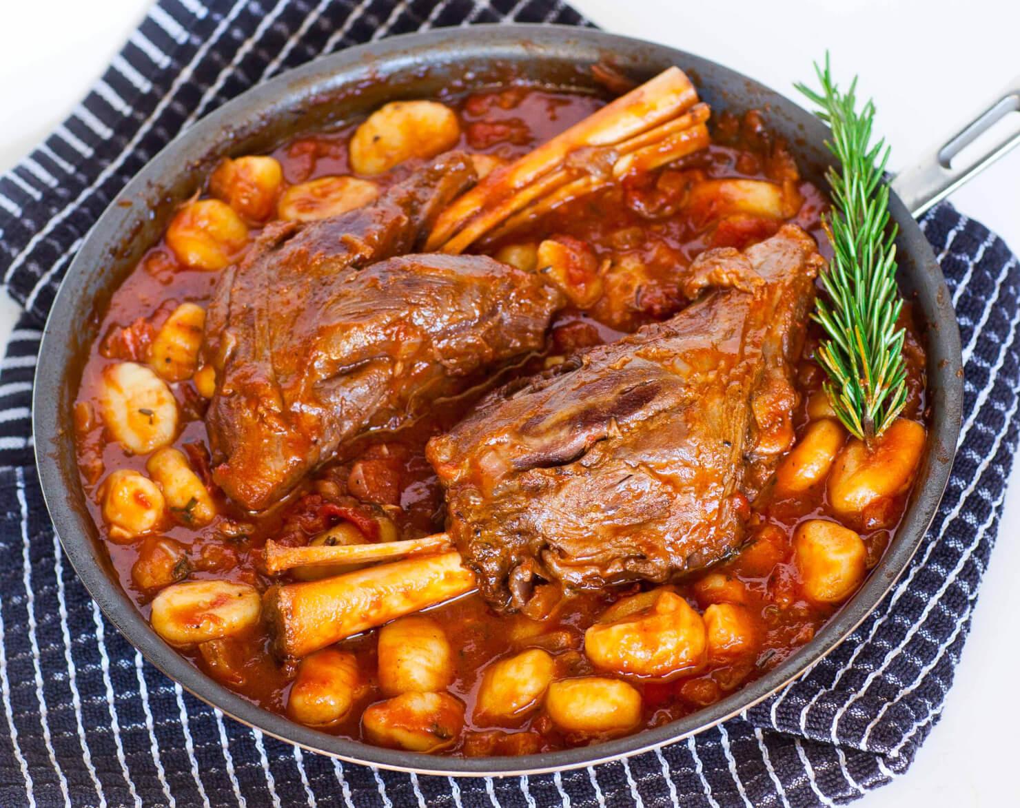 lamb shanks with tomatoes and fresh herbs recipes dishmaps lamb shanks ...