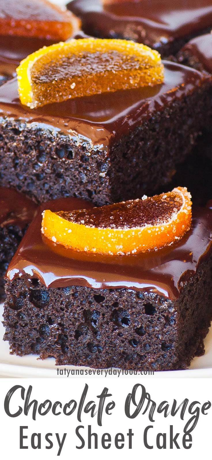 Chocolate Orange Sheet Cake recipe