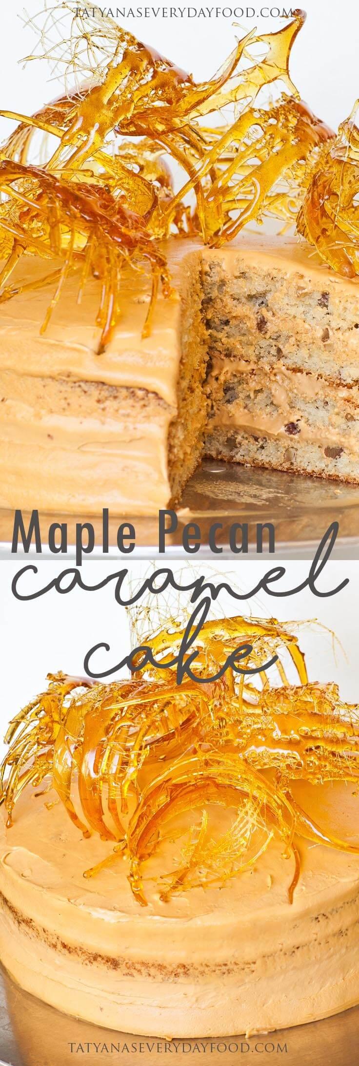 Maple Pecan Caramel Cake video recipe