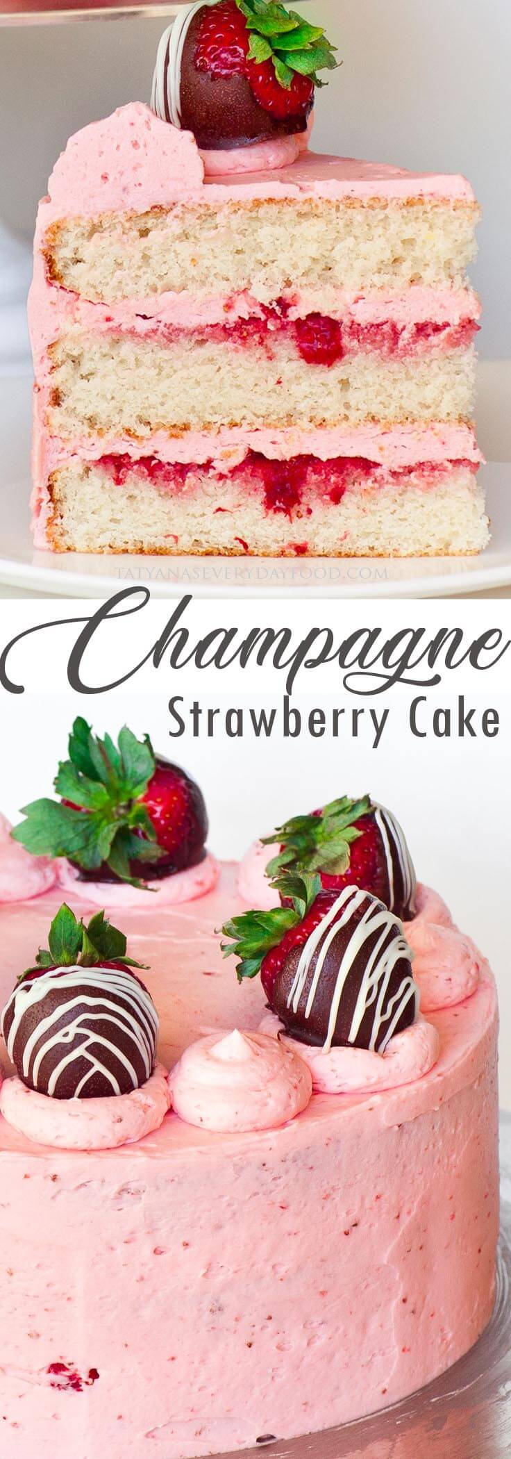 Strawberry Champagne Cake video recipe