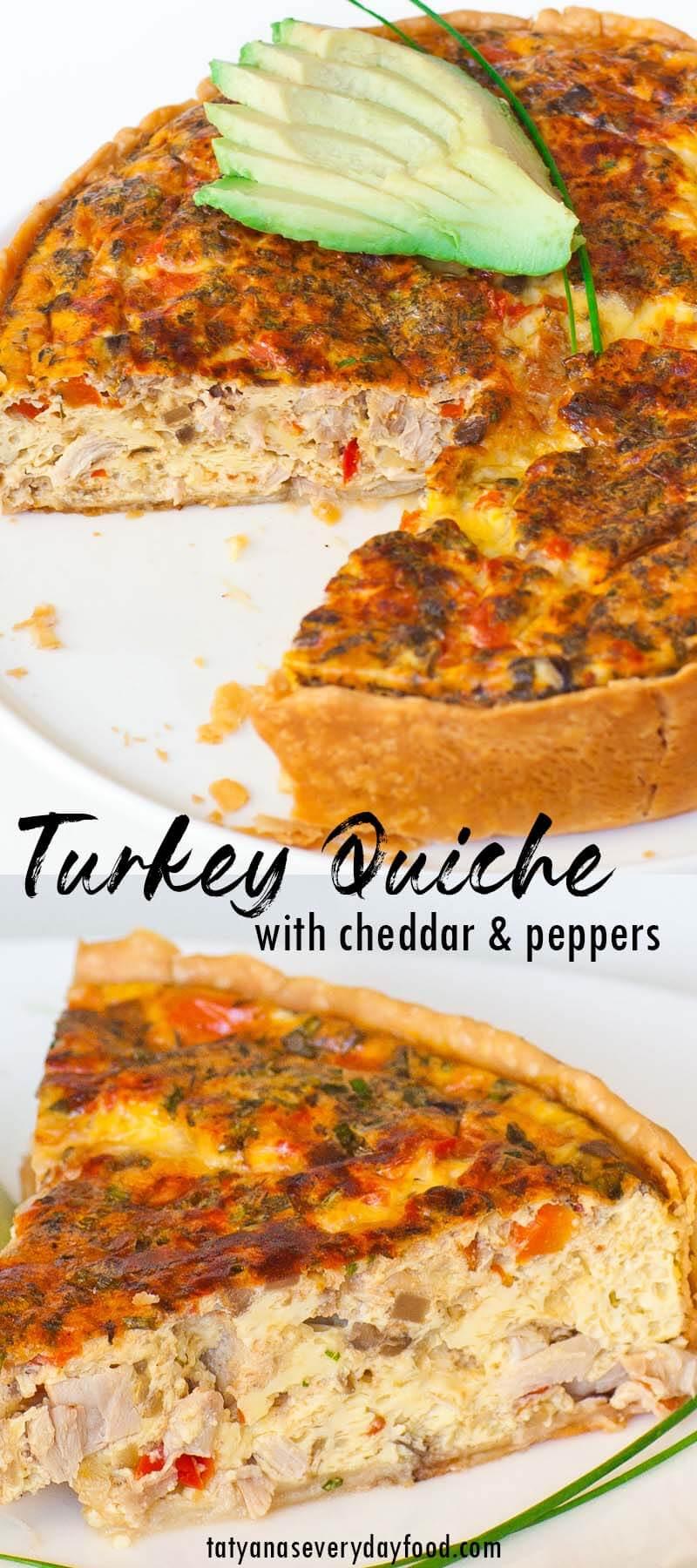 Cheddar Turkey Quiche video recipe
