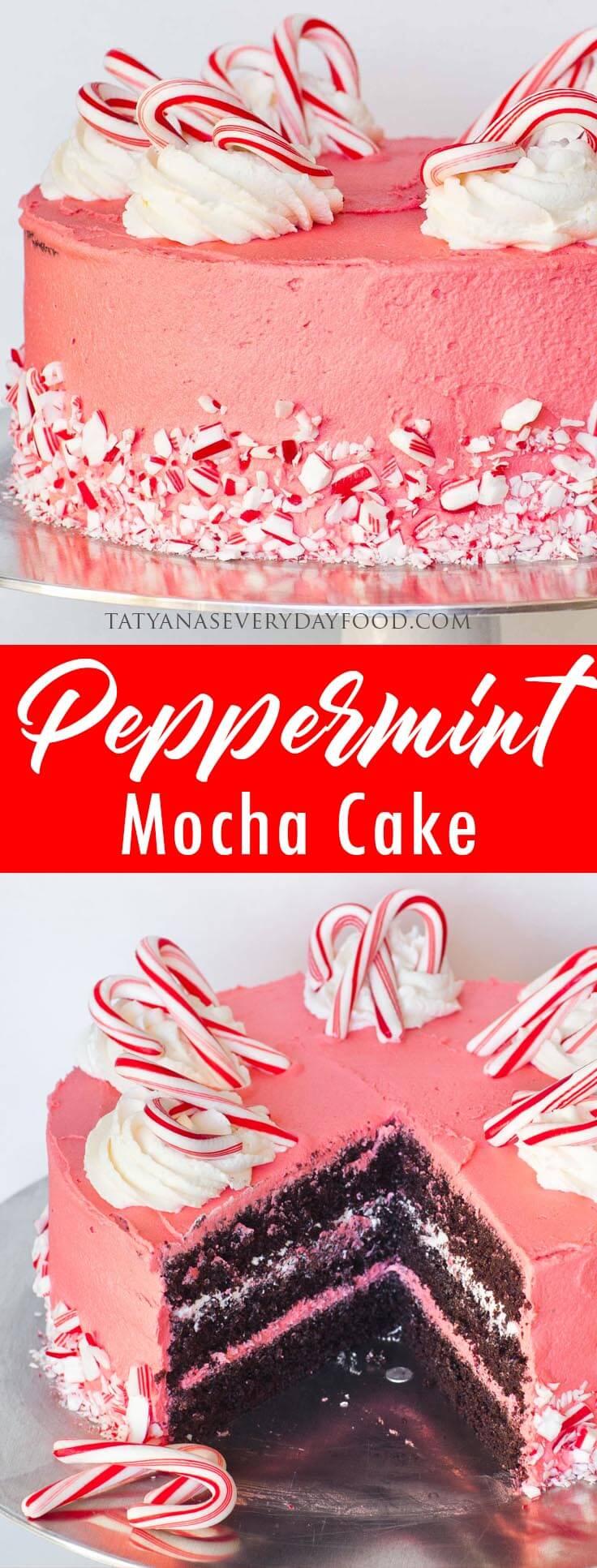 Peppermint Mocha Cake video recipe