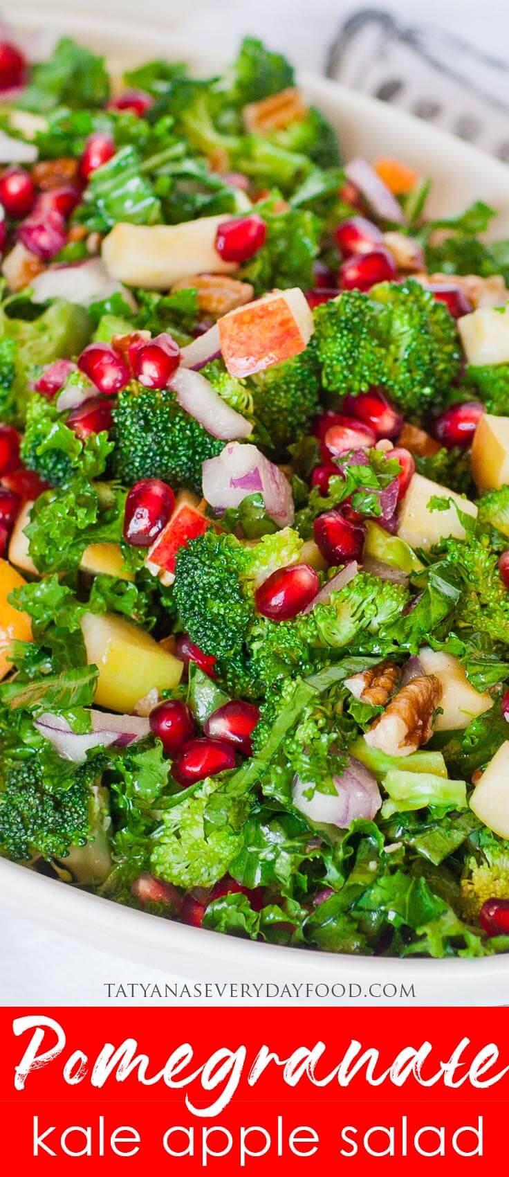 Easy Pomegranate Kale Salad recipe