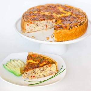 Turkey and Cheddar Quiche