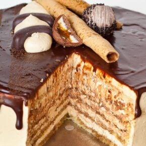 opera coffee cake with almond sponge cake