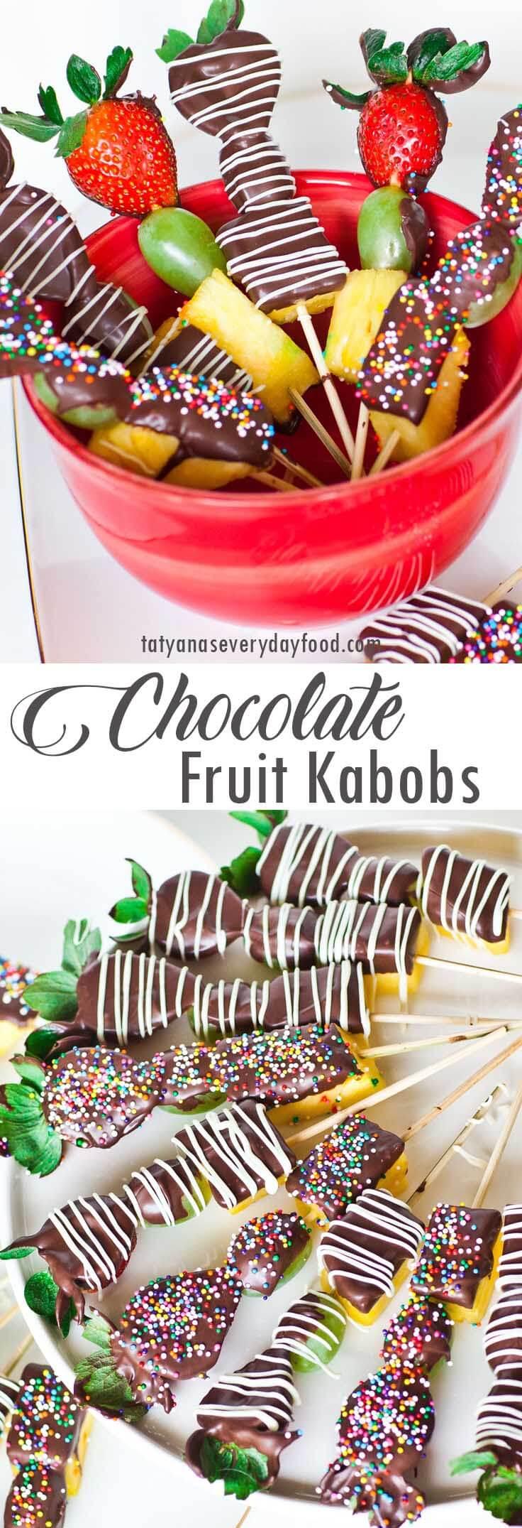 Chocolate Fruit Kabobs video recipe
