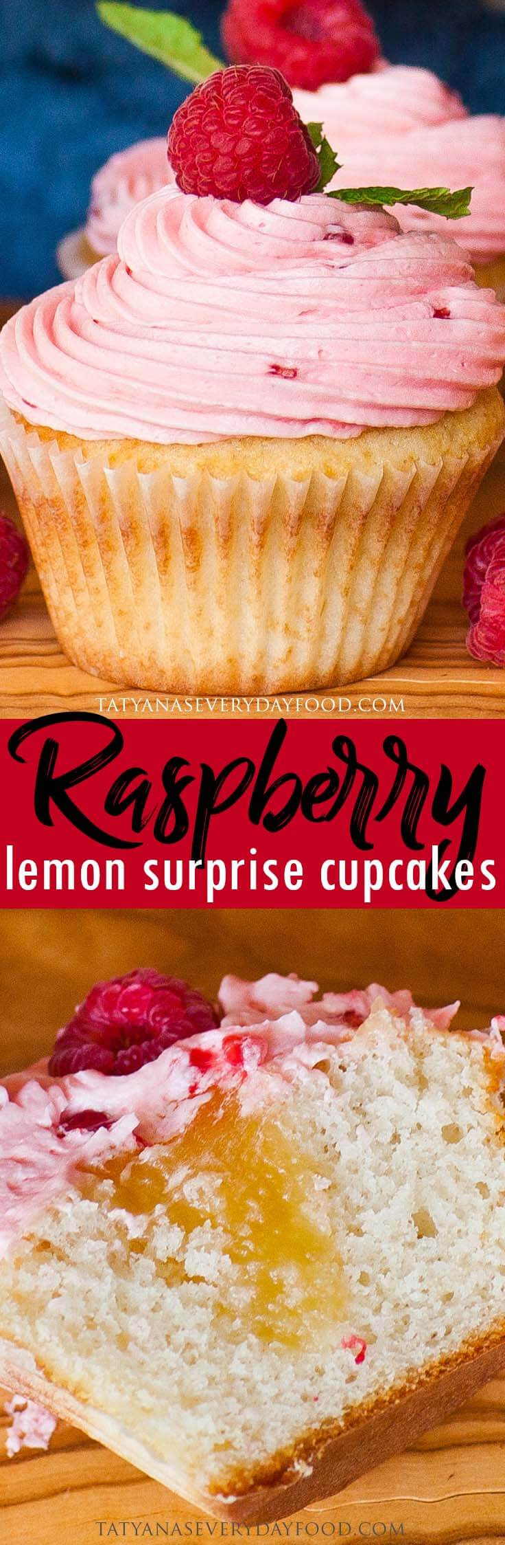 Raspberry Lemon Cupcakes recipe with video