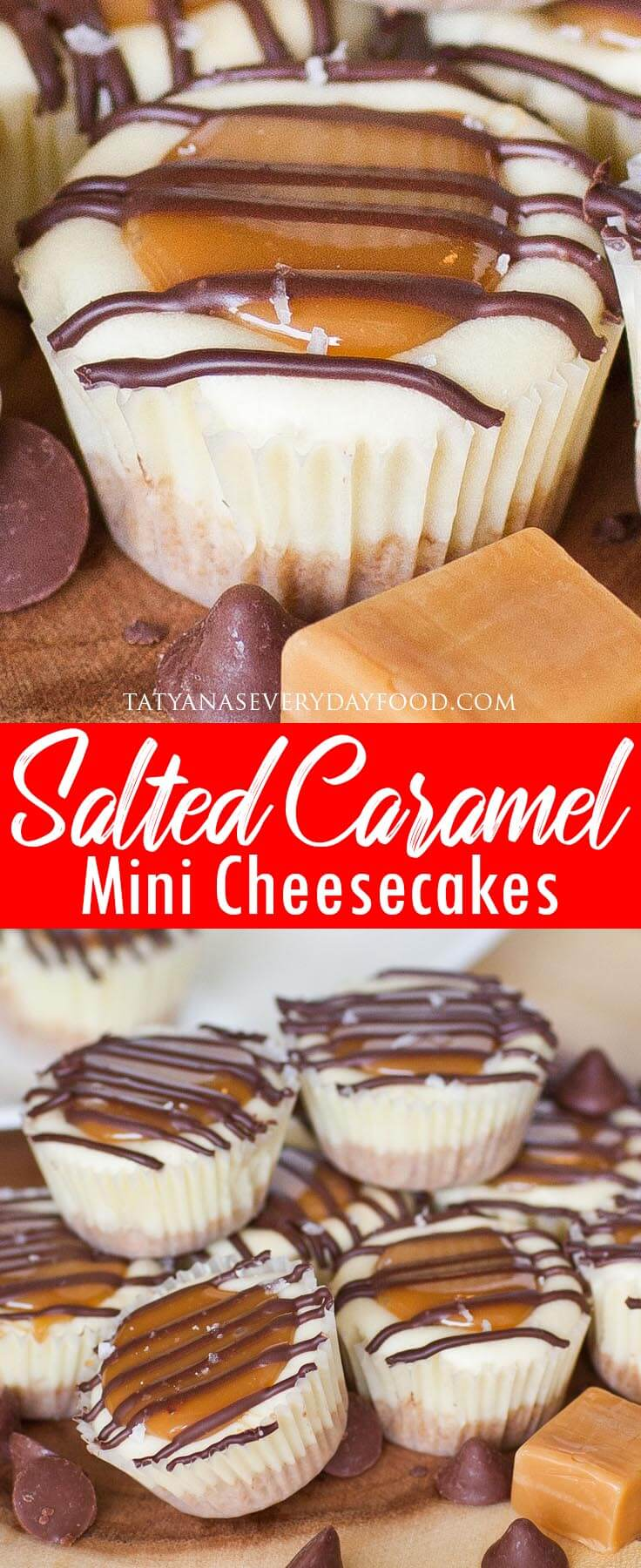 Salted Caramel Mini Cheesecakes video recipe