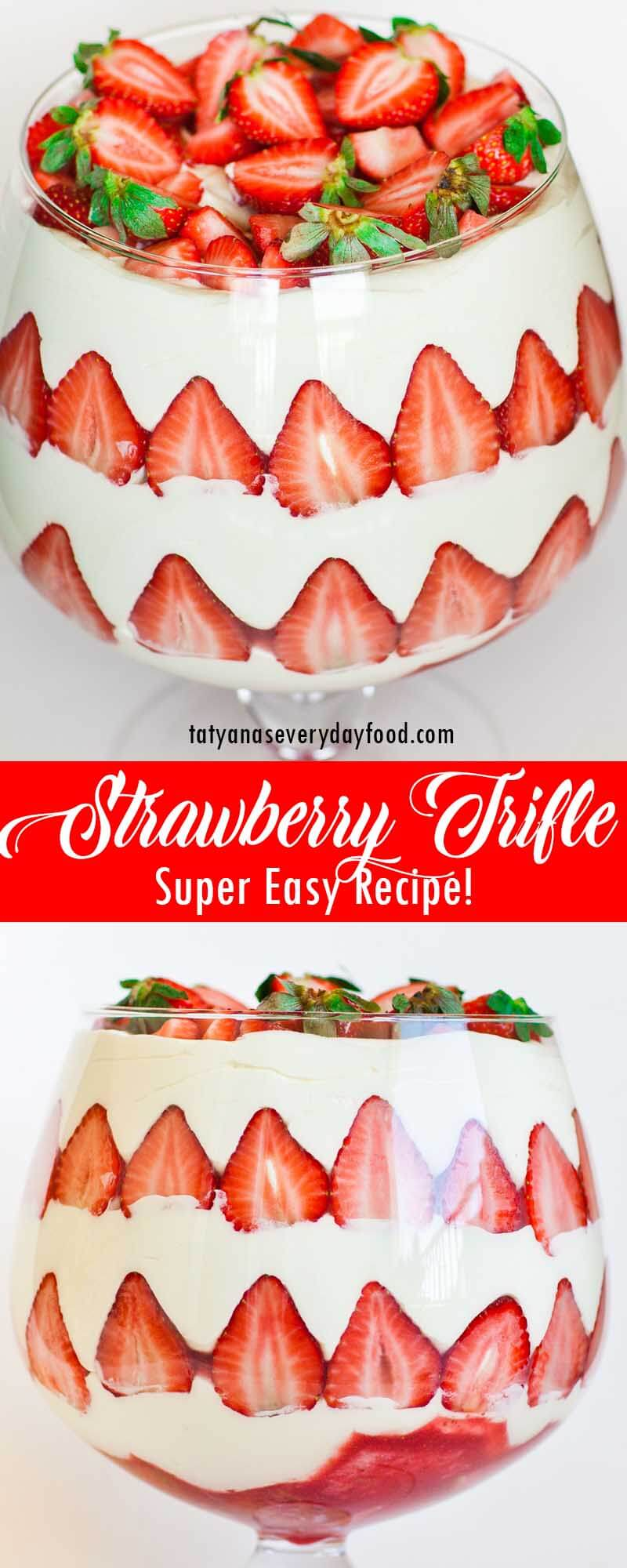 Easy Strawberry Trifle video recipe