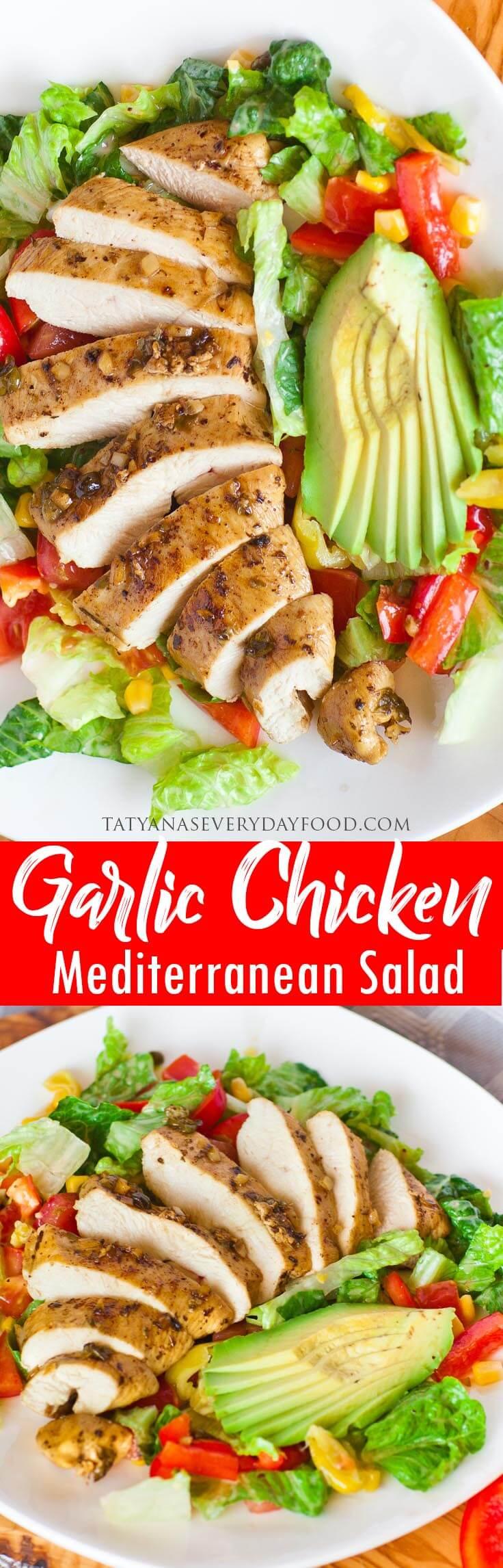 Garlic Chicken Salad video recipe