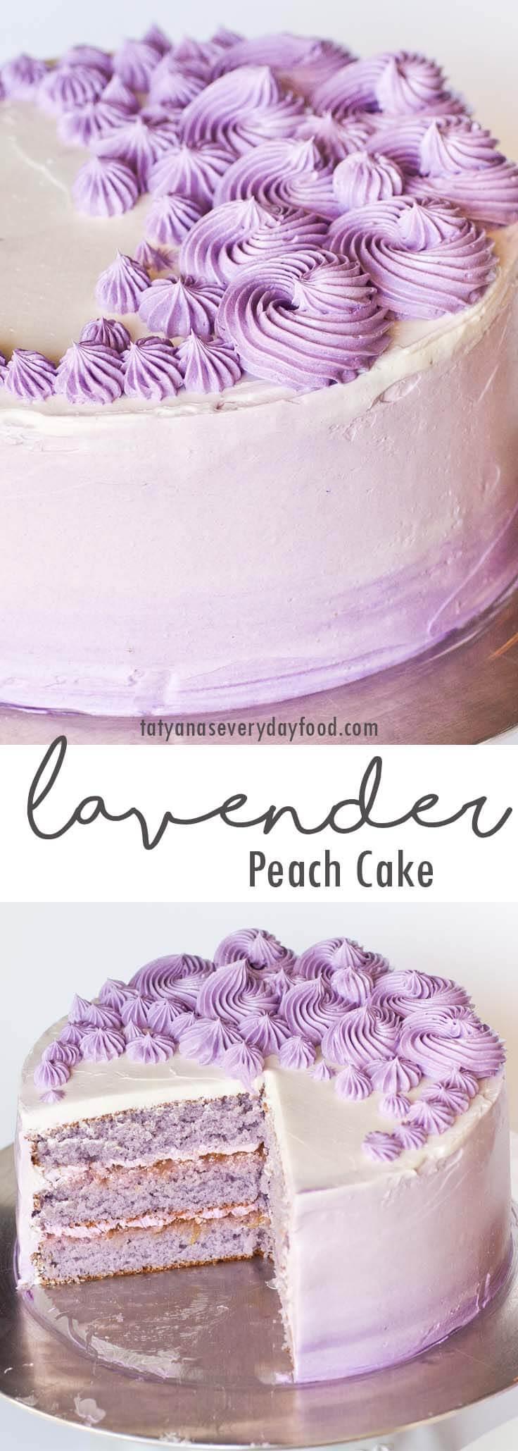 Peach Lavender Cake video recipe