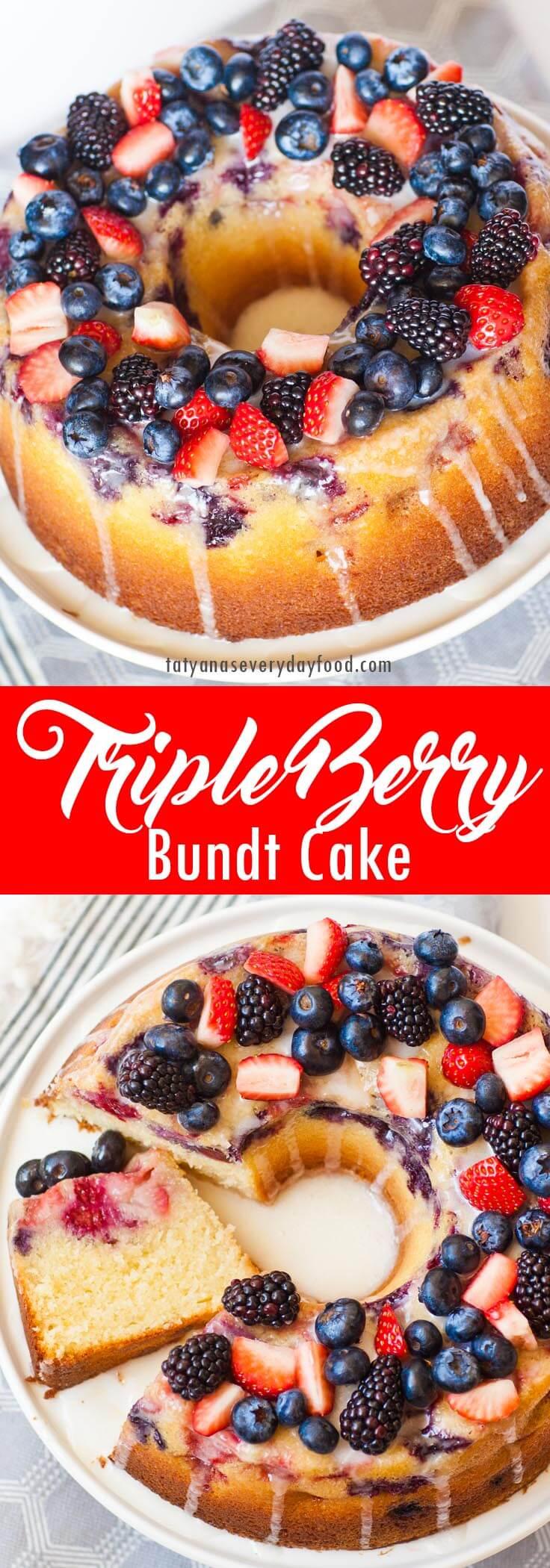 Triple Berry Bundt Cake video recipe