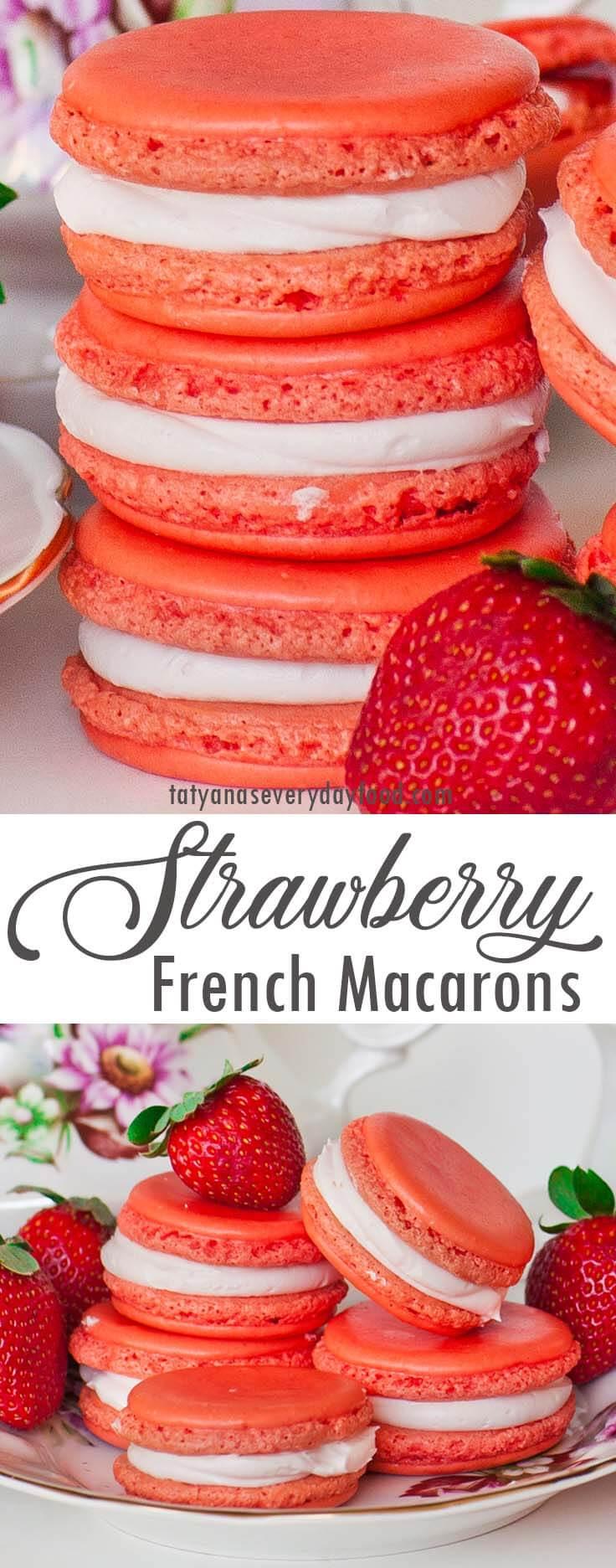Triple Strawberry Macarons video recipe